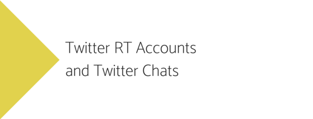 twitter retweet accounts and twitter chats